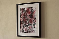 Obrazy - dospievanie krvou I . akryl na výkrese . A3 - 12160244_