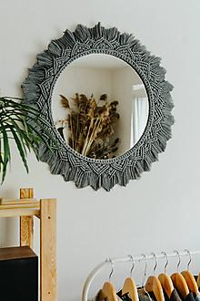 Zrkadlá - macrame zrkadlo - 12158406_