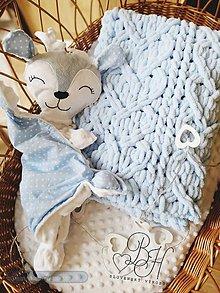 Textil - Setik deka z vlny alize puff a mojkacik srnka v bledo od tej farbe - 12158425_