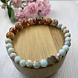 Náramky - Náramok na ruku z minerálnych kameňov - 12161182_