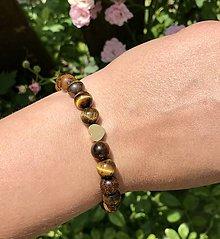 Náramky - Náramok na ruku z minerálnych kameňov - 12161023_