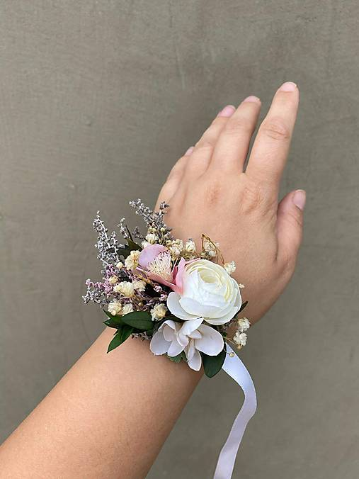 """Kvetinový náramok """"sladké tajomstvo"""""""