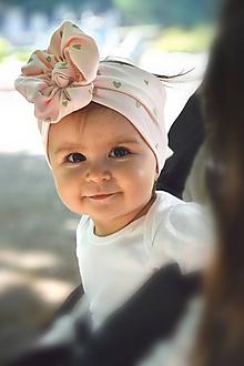 Detské doplnky - Čelenka Amazing / srdiečka pink - 12161303_