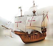 Dekorácie - Drevený model lode - 12159714_