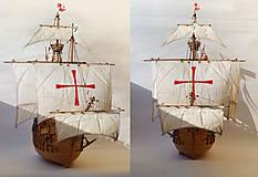 Dekorácie - Drevený model lode - 12159715_