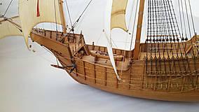Dekorácie - Drevený model lode - 12159726_