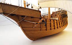 Dekorácie - Drevený model lode - 12159728_
