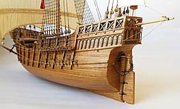 Dekorácie - Drevený model lode - 12159729_
