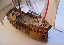 Dekorácie - Drevený model lode - 12159734_