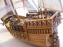 Dekorácie - Drevený model lode - 12159735_