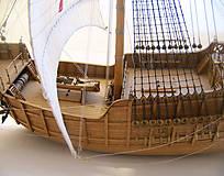 Dekorácie - Drevený model lode - 12159737_