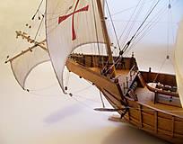 Dekorácie - Drevený model lode - 12159740_