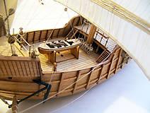 Dekorácie - Drevený model lode - 12159742_