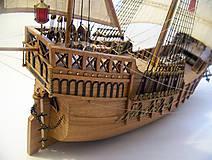 Dekorácie - Drevený model lode - 12159743_