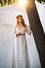 Šaty - Ľanové šaty Živa - 12162978_