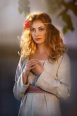 Šaty - Ľanové šaty Živa - 12162980_