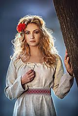 Šaty - Ľanové šaty Živa - 12162981_