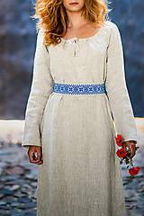 Šaty - Ľanové šaty Živa - 12162987_