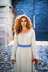Šaty - Ľanové šaty Živa - 12162988_