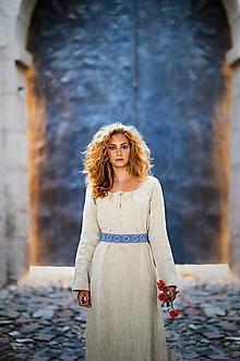 Šaty - Ľanové šaty Živa (M) - 12162986_