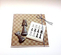 Papiernictvo - Pohľadnica pre šachistu ... na objednávku - 12163355_