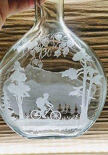 Nádoby - Gravírovaná fľaša, cyklista - 12164197_