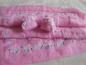 Textil - Detská deka s papučkami - 12163817_