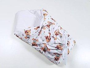 Textil - Zavinovačka s troma úväzmi béžové medvedíky - 12162887_