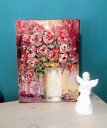 Obrazy - Červené ruže - 12163482_