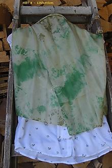 Šály - silk carf_hodvábna šála 130x35cm batika - 12163336_