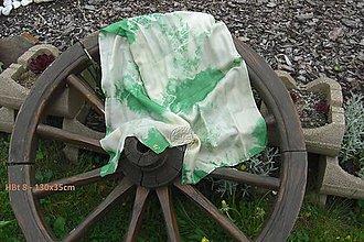 Šály - silk carf_hodvábna šála 130x35cm batika - 12163463_