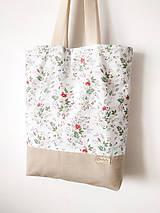 Nákupné tašky - Taška šípová ružička - 12162188_