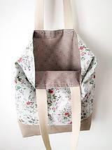Nákupné tašky - Taška šípová ružička - 12162189_