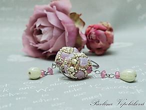 Náušnice - Visiace náušnice ružové - 12161669_