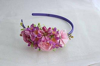 Ozdoby do vlasov - Čelenka kvetinová2 - 12161831_