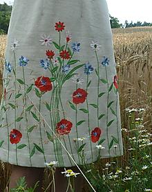 Šaty - Ľanové vyšívané šaty - 12164875_