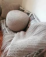 Úžitkový textil - Háčkovaná HYGGE DEKA svetlá béžová - 12164517_