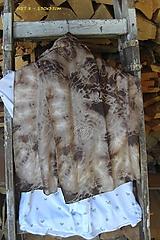 Šály - silk carf_hodvábna šála 130x35cm batika - 12165390_