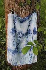 Šály - silk carf_hodvábna šála 130x35cm batika - 12166268_