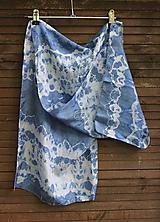 Šály - silk carf_hodvábna šála 130x35cm batika - 12166323_