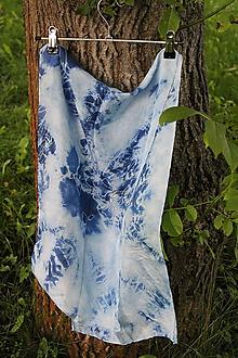 Šály - silk scarf_hodvábna šála 130x35cm batika - 12166159_