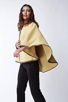 Iné oblečenie - Žlté pončo - 12165898_