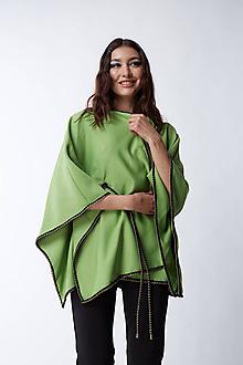 Iné oblečenie - Zelené pončo - 12165911_