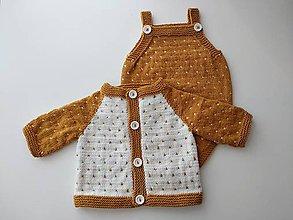 Detské oblečenie - Horčicový svetrík - 12166141_