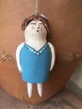 Socha - Tyrkysové dievča-zvonček - 12164324_
