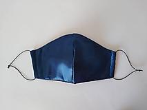 Rúška - Dizajnové rúško spoločenské saténové tvarované trojvrstvové (Pánske) - 12168026_