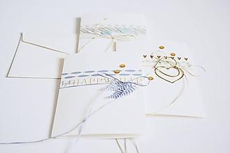 Papiernictvo - Svadobný pozdrav - washi pásky - 12168135_