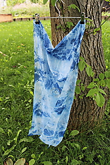 Šály - silk carf_hodvábna šála 180x45cm batika - 12167856_
