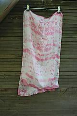 Šály - silk carf_hodvábna šála 130x35cm batika - 12168019_