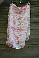 Šály - silk carf_hodvábna šála 130x35cm batika - 12168020_